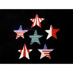 Striped Star Christmas Ornaments