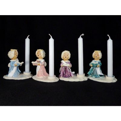 Set of Four Angel Candlestick Holders
